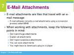 e mail attachments