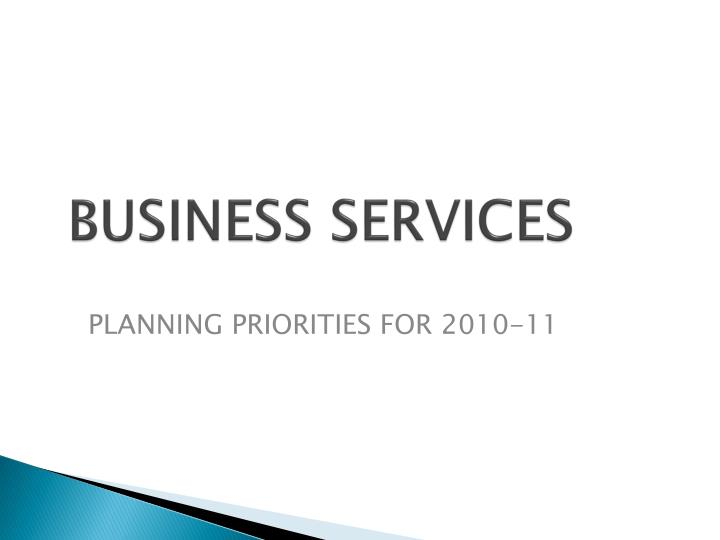business services n.