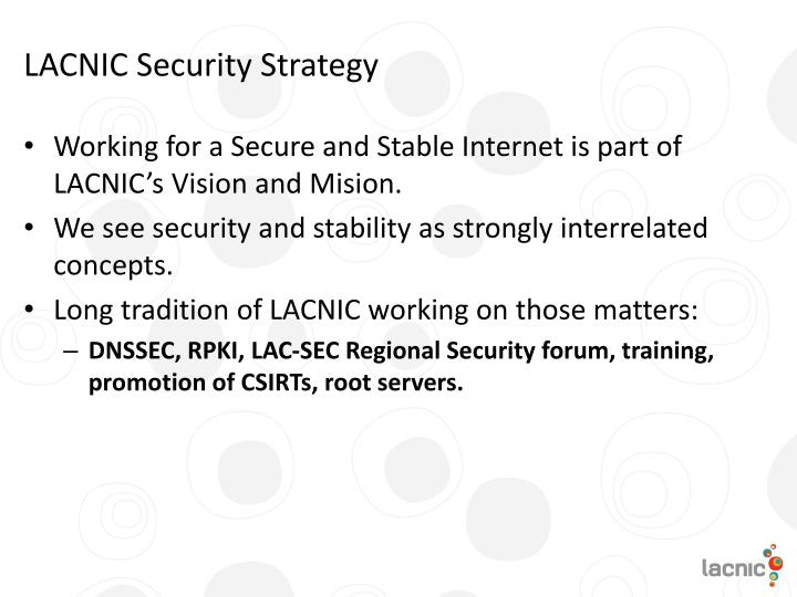 LACNIC Security Strategy