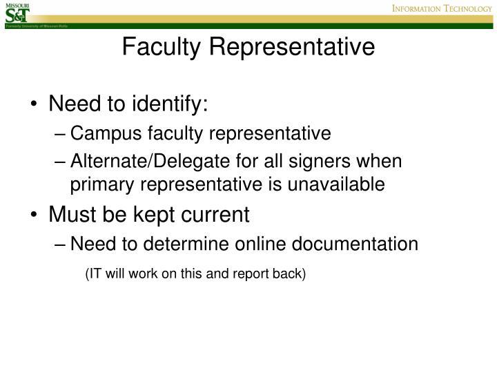 Faculty Representative