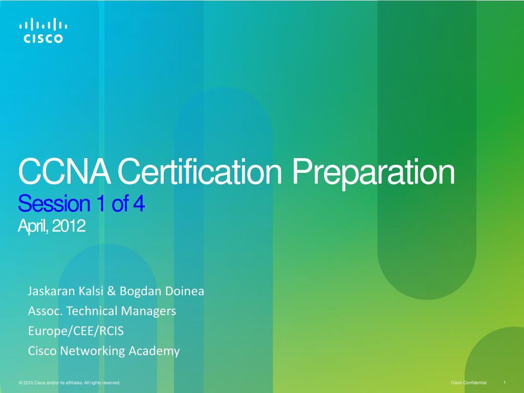 Ppt Ccna Certification Preparation Session 1 Of 4 April 2012