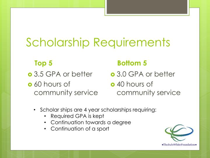 Scholarship Requirements