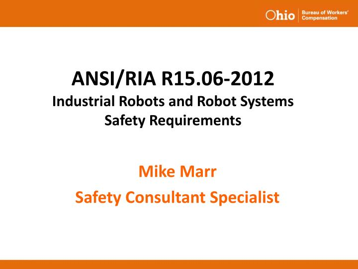 ansi ria r15 06 2012 industrial robots and robot systems safety requirements n.