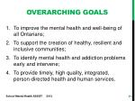 overarching goals