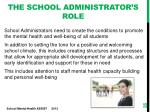 the school administrator s role