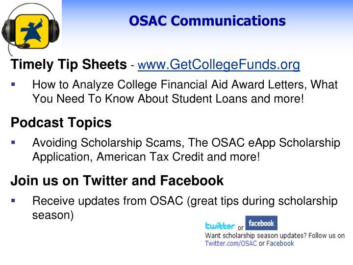 OSAC Communications