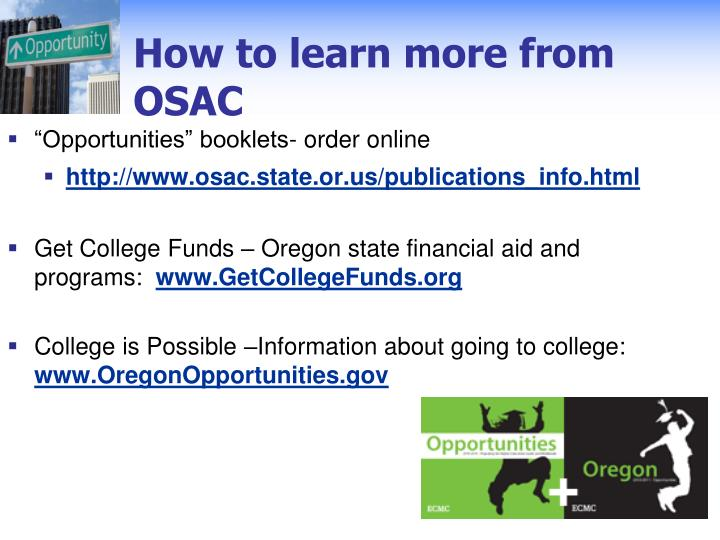 How to learn more from OSAC