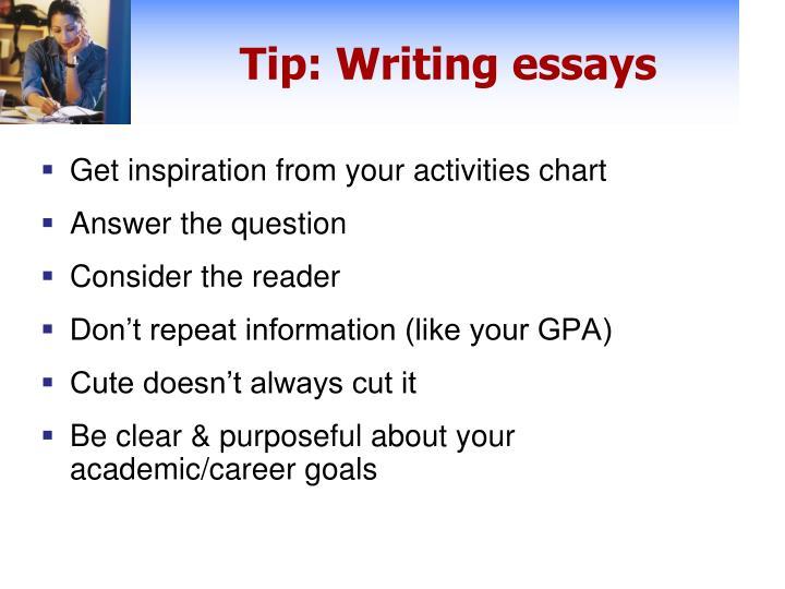 Tip: Writing essays