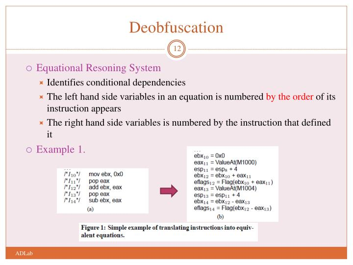 Deobfuscation