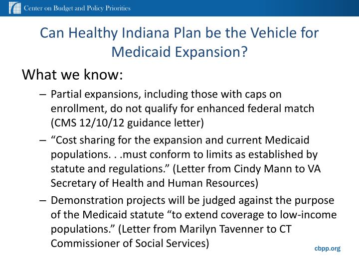 Can Healthy Indiana Plan be the Vehicle for Medicaid Expansion?