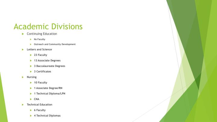 Academic divisions