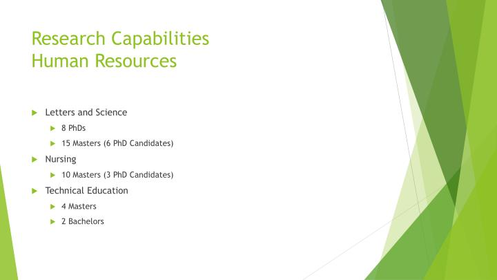 Research Capabilities