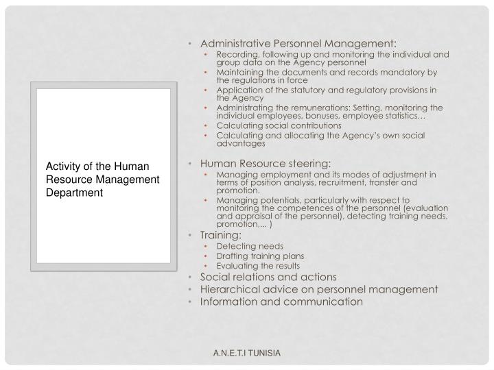 Administrative Personnel Management: