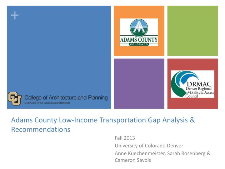 adams county low income transportation gap analysis recommendations n.
