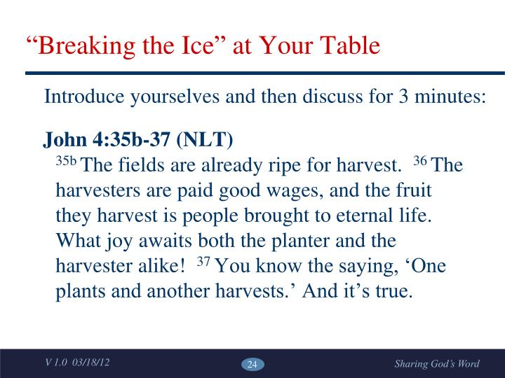 """""""Breaking the Ice"""" at Your Table"""