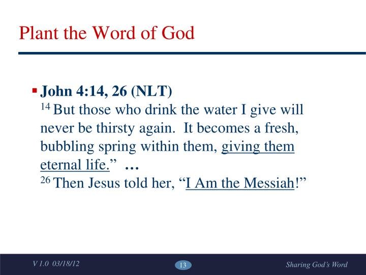 Plant the Word of God