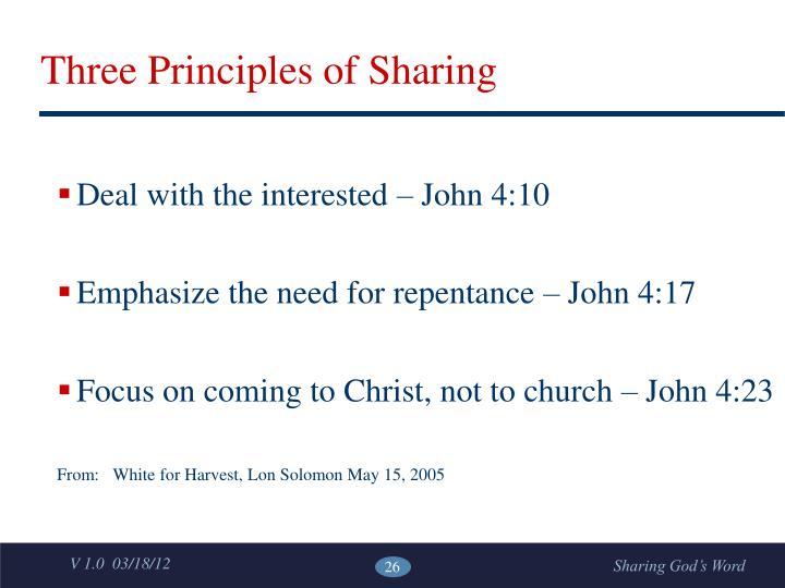 Three Principles of Sharing