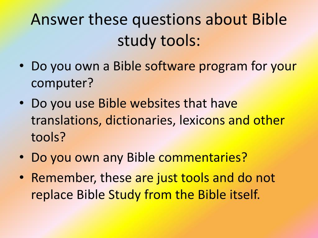 PPT - How To Study The Bible PowerPoint Presentation - ID