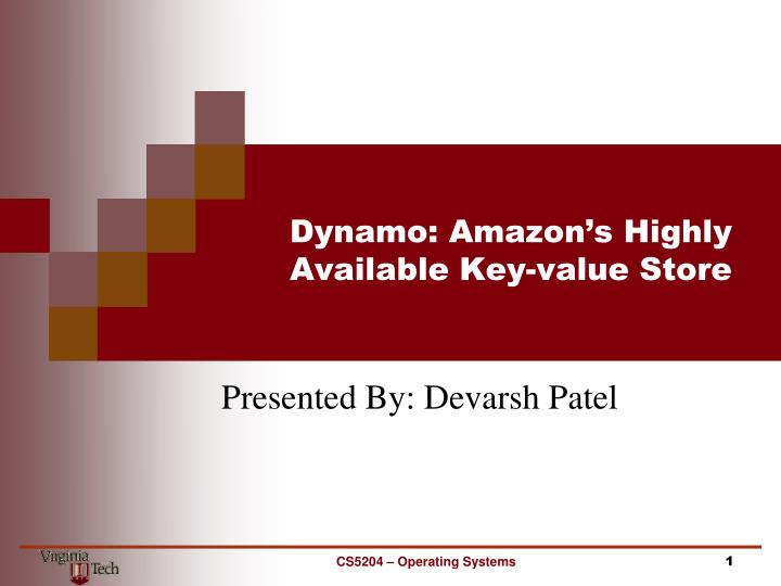 Dynamo amazon s highly available key value store
