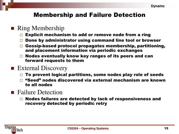 Membership and Failure Detection