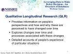 qualitative longitudinal research qlr