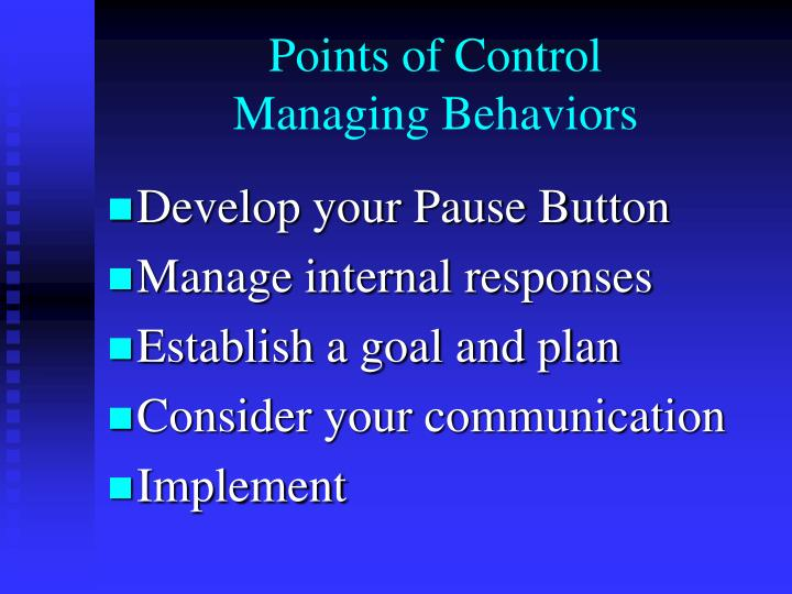 Points of Control