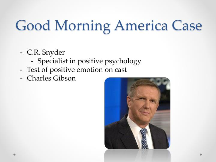 Good Morning America Jobs : Ppt the role of psychological well being in job