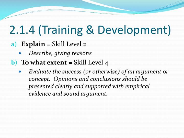 2.1.4 (Training & Development)