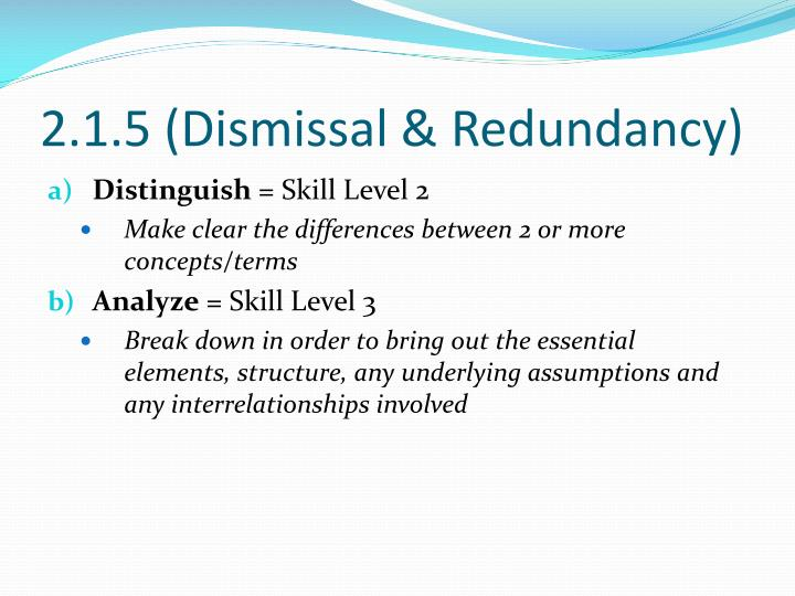 2.1.5 (Dismissal & Redundancy)