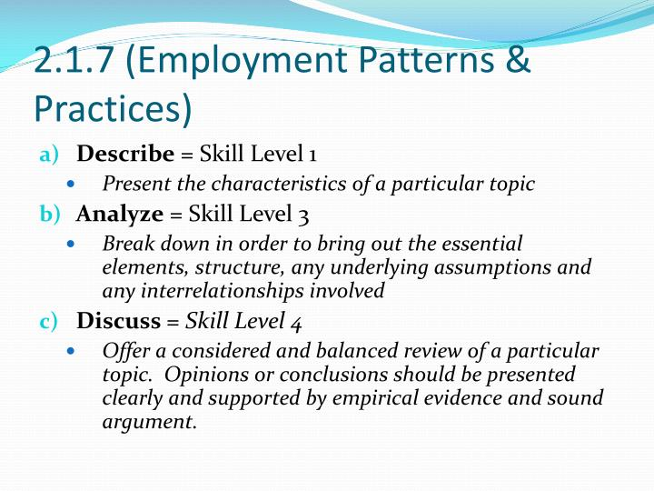 2.1.7 (Employment Patterns & Practices)