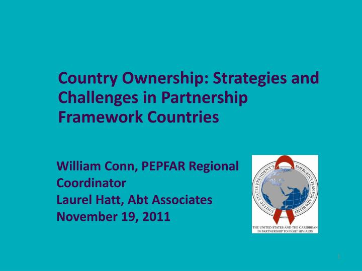 country ownership strategies and challenges in partnership framework countries n.