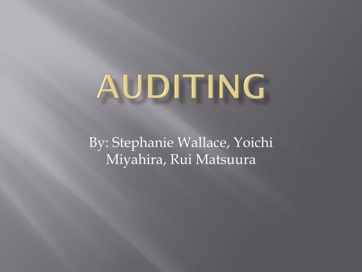 chapter 1 modern auditing Auditing, 12e (arens) chapter 1 the demand for an auditing and assurance profession 11 identify the components of an audit and explain why there is a demand for audits.