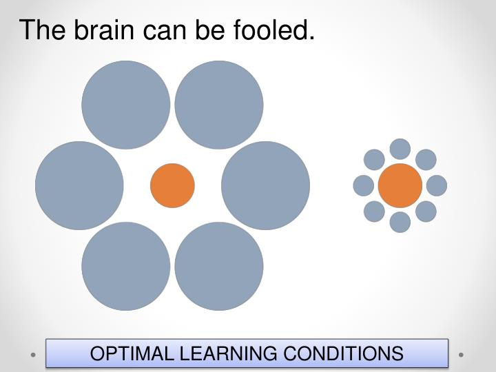 The brain can be fooled.