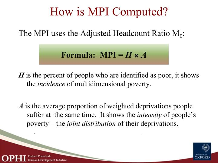 How is MPI Computed?