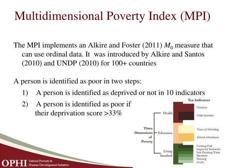 Multidimensional Poverty Index (MPI)