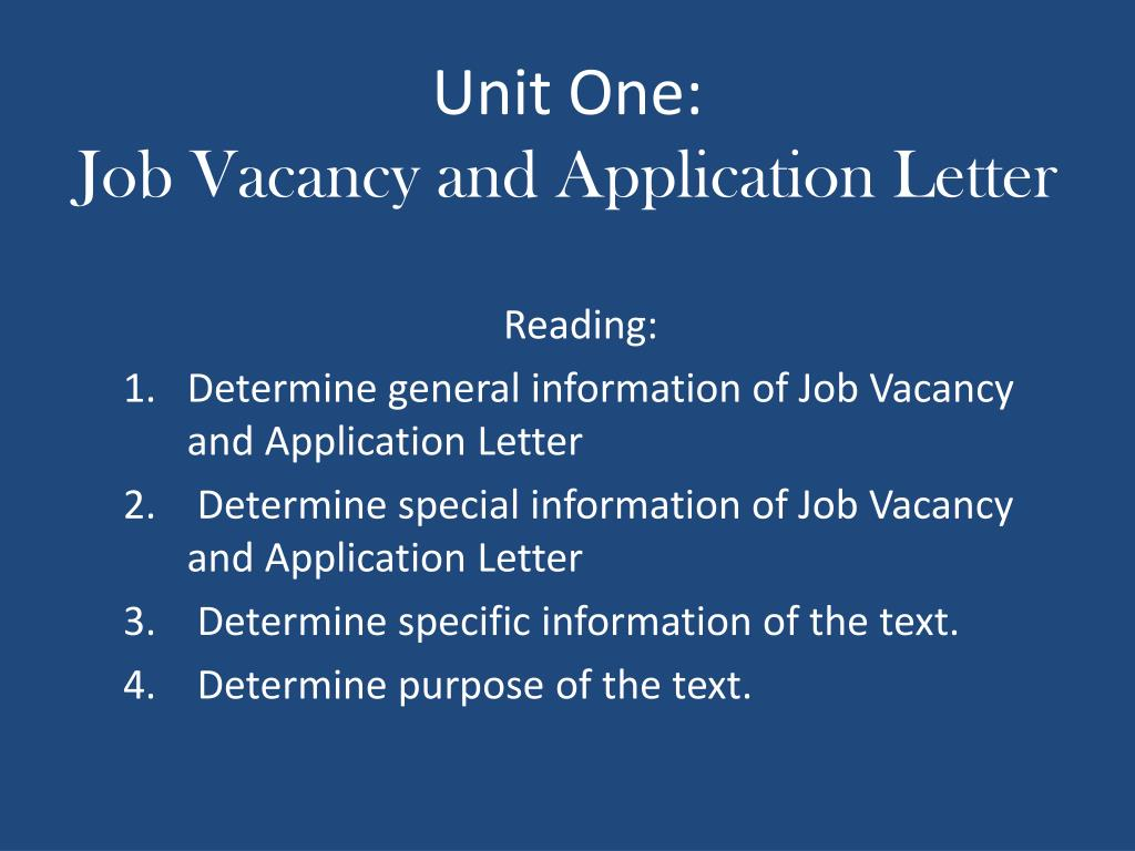 Letter Of Aplication For A Job from image1.slideserve.com