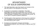 advantages of solid dispersions