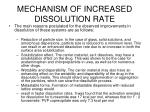 mechanism of increased dissolution rate1