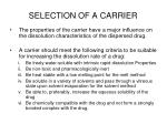selection of a carrier