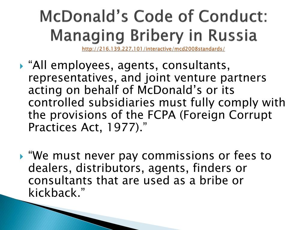 Ppt Bribes Gifts And Corrupt Practices Operating