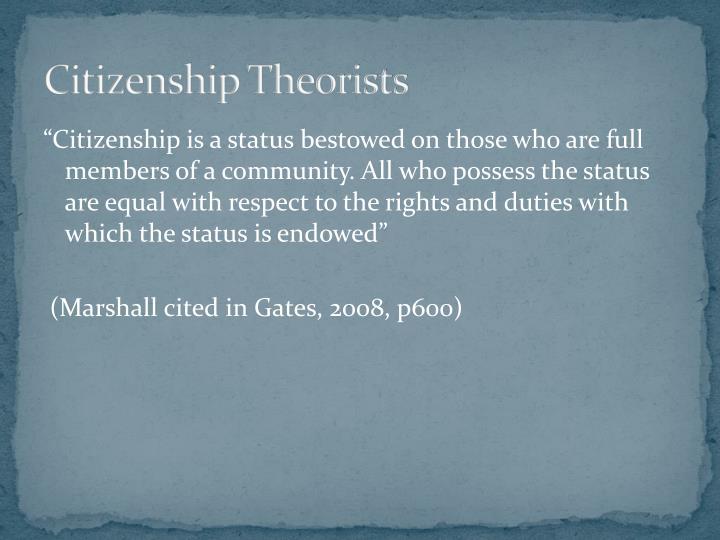 Citizenship Theorists