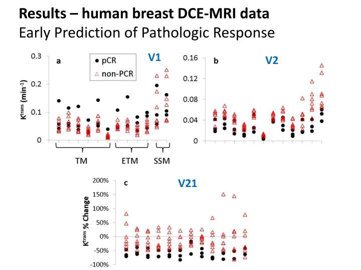 Results – human breast DCE-MRI data