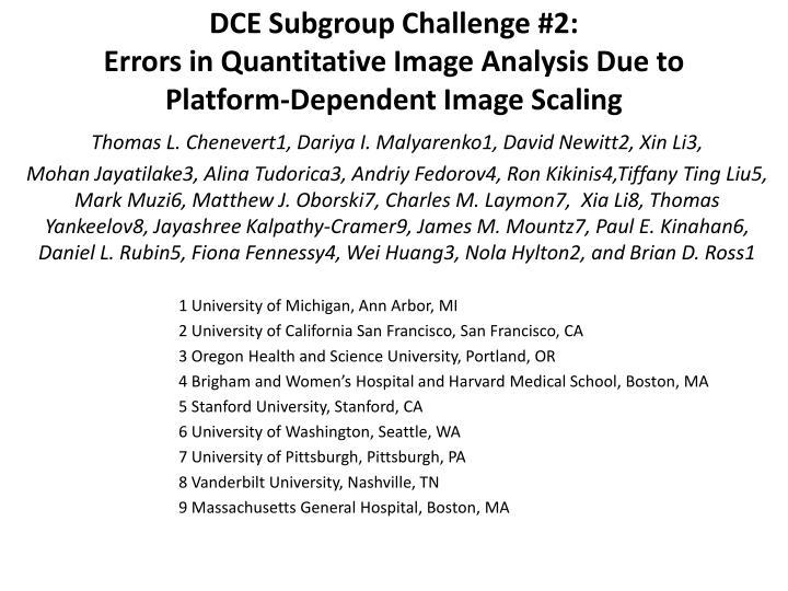DCE Subgroup Challenge #2: