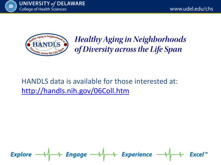 HANDLS data is available for those interested at: