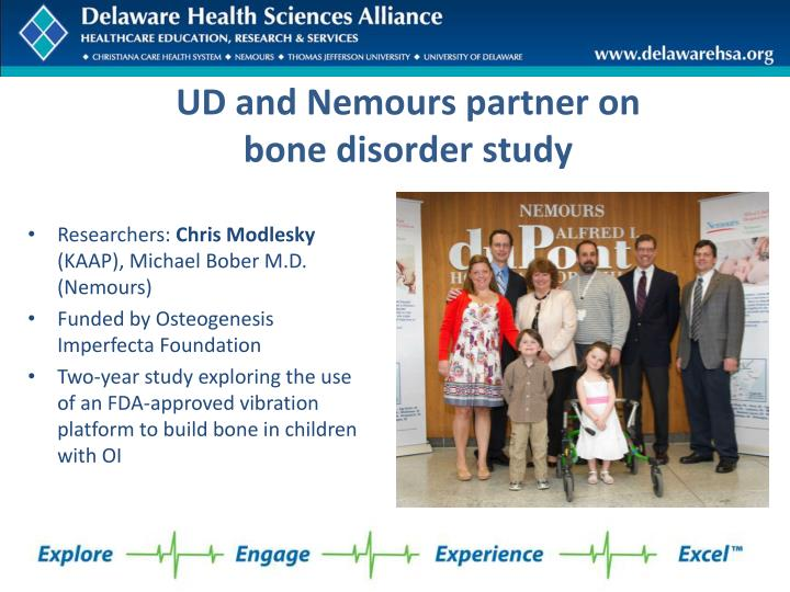 UD and Nemours partner on