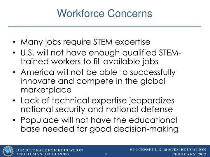 Workforce concerns