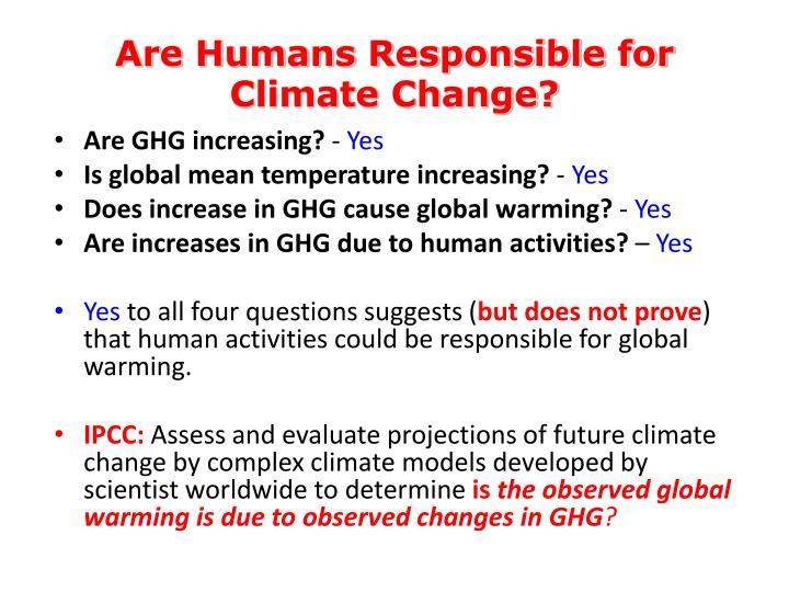 Are Humans Responsible for Climate Change?