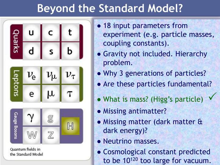 Beyond the Standard Model?
