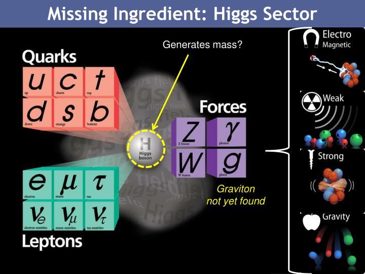 Missing Ingredient: Higgs Sector