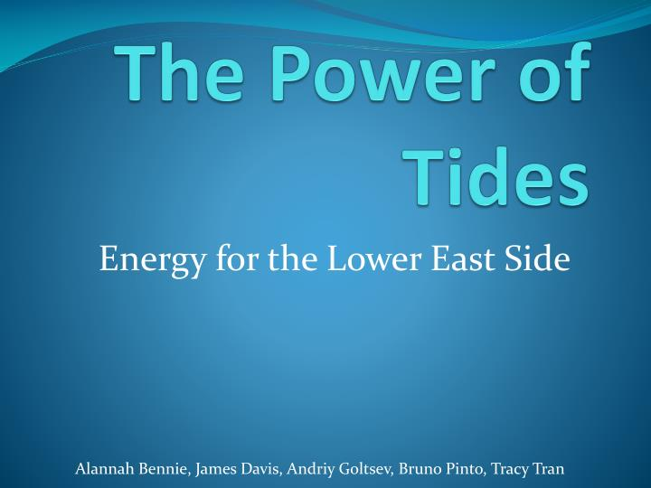 The power of tides
